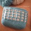 もちこさんがお弁当袋にワッフル編みを使ってくれたよー