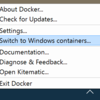 Docker for Windowsにdockerd.exeが同梱された話
