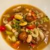 ドライポルチーニでポルトガル風スープ