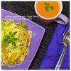 春キャベツと卵のパスタ+キャロットスープ