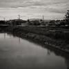 秋篠川から望む薬師寺のツインタワー