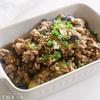 調味料3つで超簡単なのにガッツリご飯が進みます!『豚ひきナスの甘辛生姜焼き』の作り方