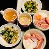 おうちごはん 鴨肉丼・つぶ貝とターツァイ炒め・お味噌汁