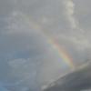 雨上がりの空に虹