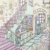 「憧れのお店屋さん」P6,7本屋さんの作品