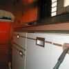 建具修理3(流し台の引き手金物の取替え)