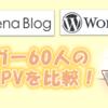 はてなブログ vs WordPress!ブロガー60人の収益・PVを比較しました