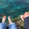 宮古島・伊良部島 絶景の断崖絶壁三角点