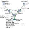 Cisco IOU を使って、VLAN 100 と VLAN 200(異なるネットワーク)を複数のスイッチとルーターで繋ぐ実験