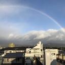 大きな虹が架かった