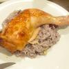 骨つき鶏もも肉のローストチキンをパリッとジューシーに焼く