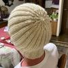 またニット帽を編みました