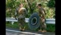 米軍車両が大型タイヤを落下させる - この1メートル以上もある大型タイヤが落下しても、巻き込まれて死ぬかもしれない脅威があっても、米軍関係者の誰もが何も語らず済ましているのは、ここが沖縄だからだ。違うかね。