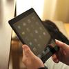 やっぱり元のカバーに戻しました。iPad mini用 ハードケース ラバーコート (液晶保護フィルム・クリーナー付) メタリックマットブラック IPM-12SC02BK