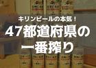 47都道府県のキリン一番搾りとか狂気の沙汰ですやん…全国の嵐のCMもすげえ