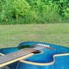 多摩川でギター