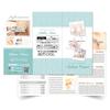 【エステリーフレット制作】美容サロン・ネイル・リラクゼーションマッサージ3つ折りパンフレット作成ご紹介