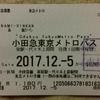 No.101 小田急電鉄・東京メトロ「小田急東京メトロパス」(無効印変更?)