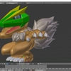 Blenderでモンスター型のキャラクターモデルを作成する その6(仕上げ処理を自動化する)