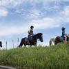 再び小貝川ポニー牧場へ。親子で乗馬をやってきた。