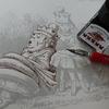 完成】つけペン&インクで遊んでみました☆鏡の国のアリス塗り絵より
