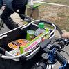 簡単脱着!そのまま買い物カゴになる「ロード・クロスバイク用カゴ」