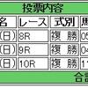 7/10(日)複勝コロガシの予想。9時時点オッズで1,200円→17,790円