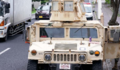 首里の朝の通勤時、渋滞の原因 ← 米軍装甲車が故障で五時間も停車