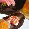 スマの刺身、牡蠣料理など(居酒屋)