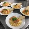 本日のまかない「フレッシュトマトとモッツアレラチーズと生ハムとバジルのスパゲッティーニ」
