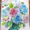 紫陽花や写し取られて色褪せぬ