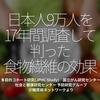 940食目「日本人9万人を17年間調査して判った食物繊維の効果」多目的コホート研究(JPHC Study) 国立がん研究センター 社会と健康研究センター 予防研究グループ@糖尿病ネットワークより