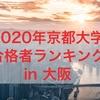 【速報】2020年京都大学合格者ランキング in 大阪