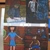 5年生:図工 一版多色刷り木版画完成