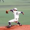 伸びのあるストレートを低めに決める 星槎道都大 渕上 佳輝選手 大卒右腕投手
