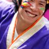 うらじゃ:陽舞笑、5日午後0時30分ころ、野田屋町公園演舞場