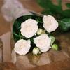スーパーで白いバラを1本買いました