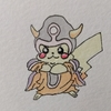 星ドラのCM見て思いつきで描いてみた。ピカチュウ(ゾーマコスプレ) Pikachu, Zoma style.