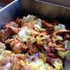 鶏肉とエリンギ キャベツの照り焼き