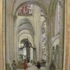 【コロー《サンス聖堂内部の眺め》】 これは誰の絵? 教会といえば! …でもちょっと雰囲気ちがうなぁ…