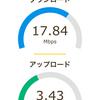 日曜日よる7時半でのFuji wifi と BIGLOBE SIMの比較