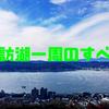 【何キロ?】諏訪湖一周にかかる時間|車・自転車・歩き