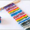 Opal毛糸のマフラー(カラフル編)