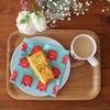 今日こそ進みますように!カラフルな朝食と、最近書いたものたち。