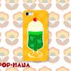 クリームソーダのiPhoneケース作りました。