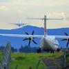 ANA機離陸後の日本エアコミューター機