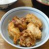 今日の食べ物 朝食に鶏の唐揚げ