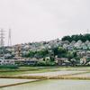 新幹線から見える場所。