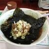 フードコートで丸美なるお店で食べた海苔納豆ラーメンがうめがった!