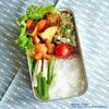 #561 揚げ鶏とサツマイモの甘辛弁当(家弁)